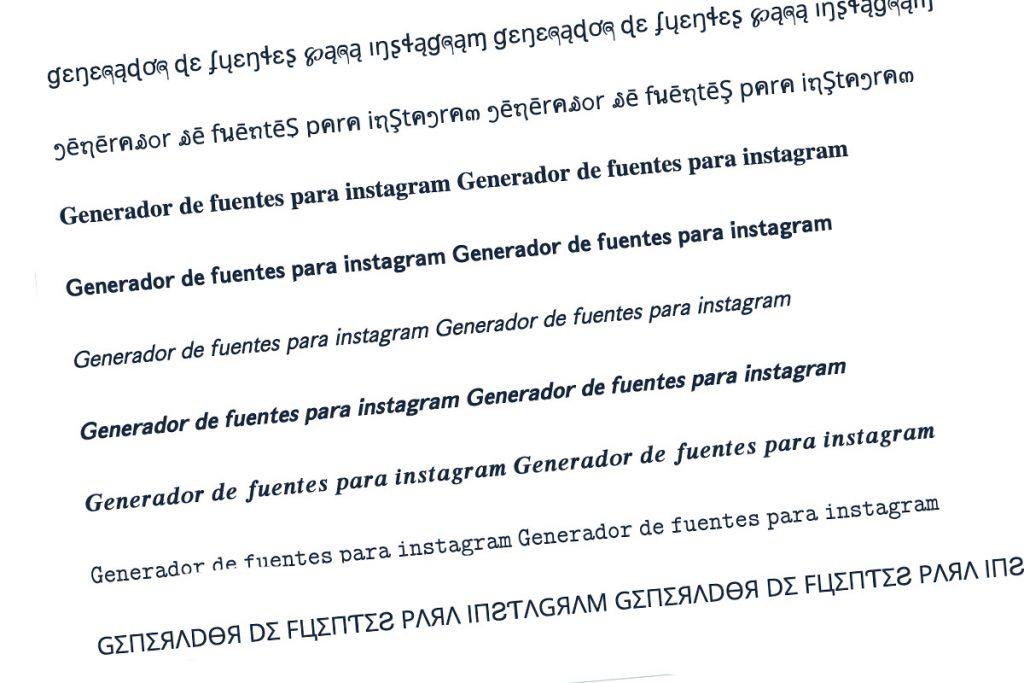Generador de fuentes para instagram