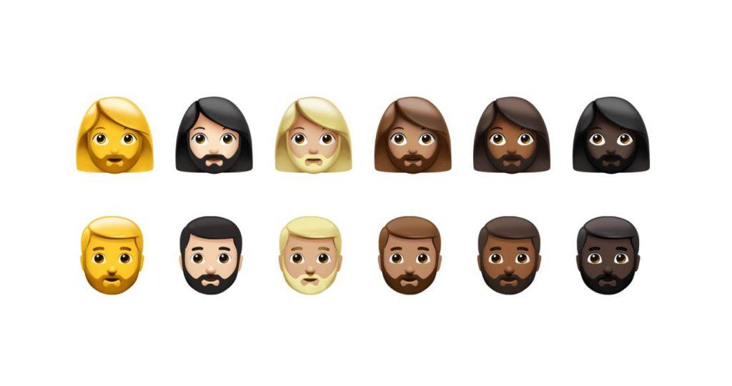 emojis con barba genero