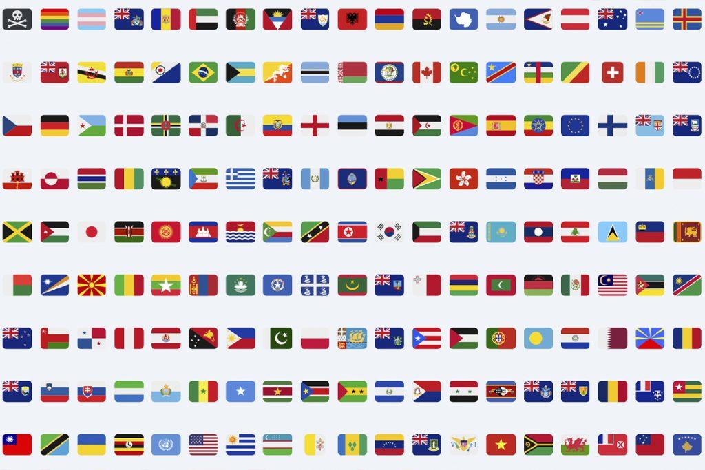 emojis banderas